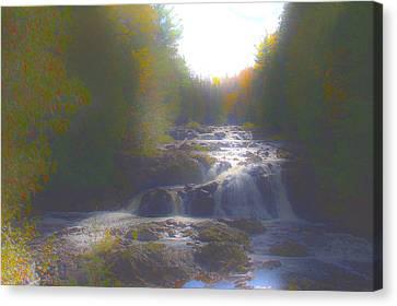 Copper Falls Canvas Print by Jim Baker
