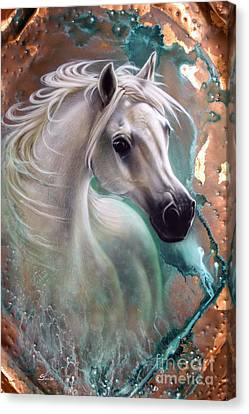Copper Grace - Horse Canvas Print by Sandi Baker