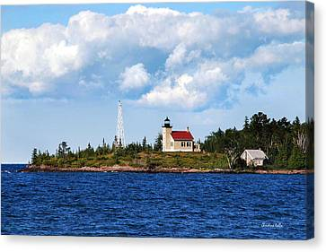 Copper Harbor Lighthouse Canvas Print by Christina Rollo