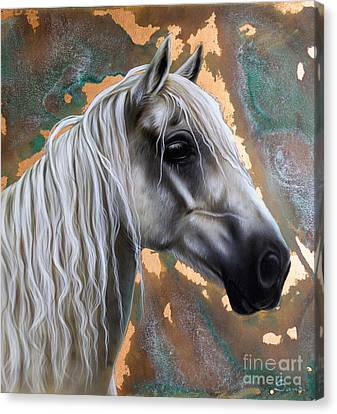 Patina Canvas Print - Copper Horse by Sandi Baker