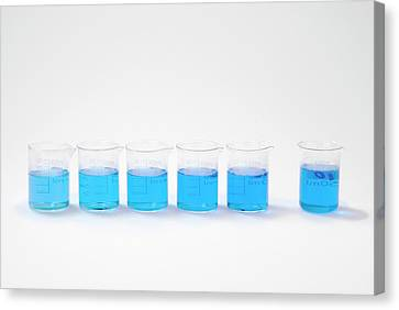 Copper Sulphate Solutions Canvas Print by Trevor Clifford Photography