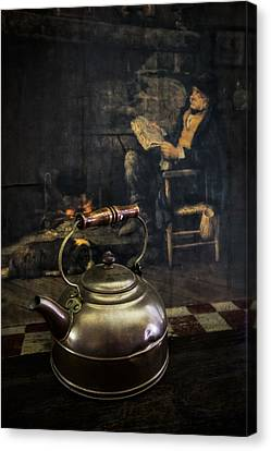 Copper Teapot Canvas Print by Debra and Dave Vanderlaan