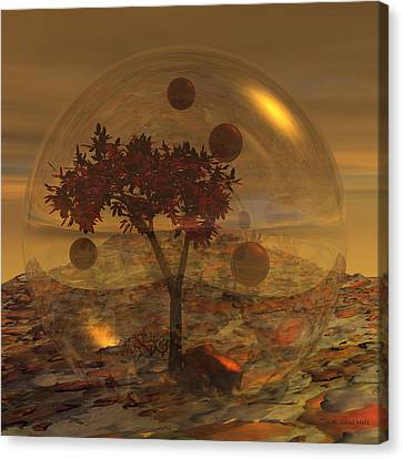 Copper Terrarium Canvas Print by Judi Suni Hall