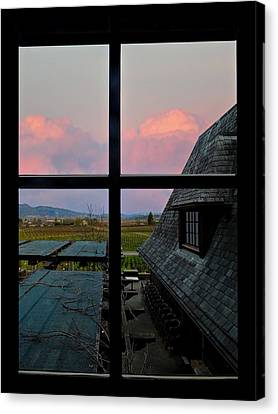 Coppola Winery Canvas Print - Coppola Vineyards by Judy  Johnson