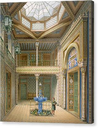 Copula Style Ceiling, Design Canvas Print by Karl Ludwig Wilhelm Zanth