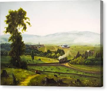 Copy After Inness Canvas Print by Voranun Harnprasert