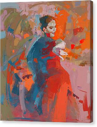 Dancer Canvas Print - Coquette  by Renata Domagalska