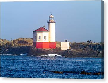 Canvas Print featuring the photograph Coquille Lighthouse by Dennis Bucklin