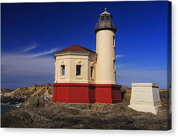 Coquille River Lighthouse 2 Canvas Print by Mark Kiver