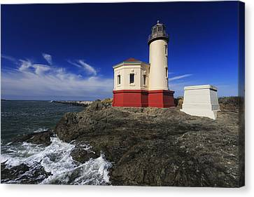 Coquille River Lighthouse 3 Canvas Print by Mark Kiver