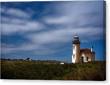 Coquille River Lighthouse Canvas Print by Joan Carroll