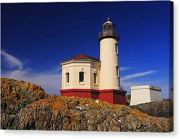 Coquille River Lighthouse Canvas Print by Mark Kiver