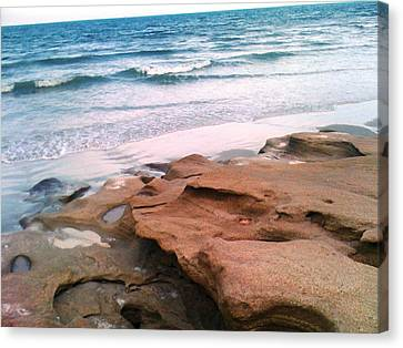 Coquina Blue Canvas Print by Julie Wilcox