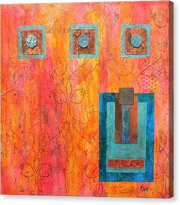 Coral And Turquoise Canvas Print by Debi Starr