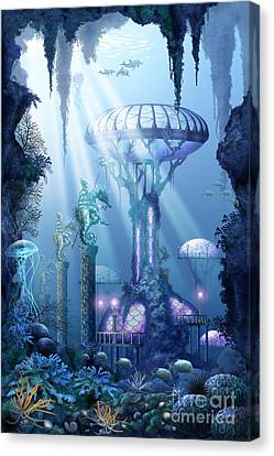 Aquatic Plant Canvas Print - Coral City   by Ciro Marchetti
