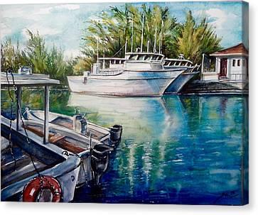 Coral Harbour 3 Canvas Print