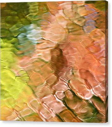 Mosaic Canvas Print - Coral Mosaic Abstract Square by Christina Rollo