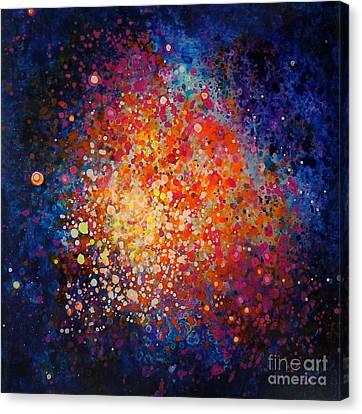 Coral Nebula #2 Canvas Print by Freddie Lieberman