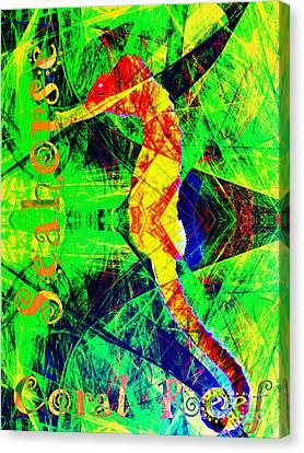Coral Reef Seahorse 5d25014v1 Canvas Print