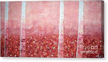Sofa Size Canvas Print - Coral Trees by Tracee Baugh