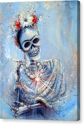 Corazon De Frida Canvas Print by Heather Calderon