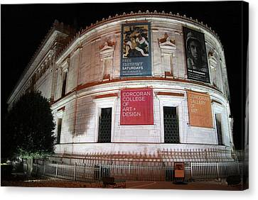 Corcoran Gallery Of Art Canvas Print by Cora Wandel