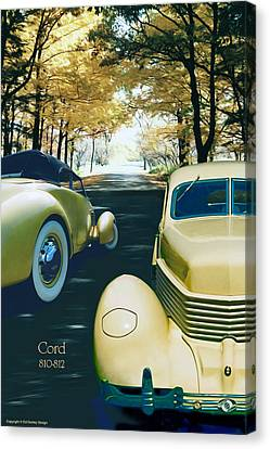 Canvas Print featuring the photograph Cord 810-812  by Ed Dooley