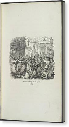 Booze Canvas Print - Cordial Workings Of The Spirit by British Library