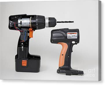 Cordless Drill Components Canvas Print by Sheila Terry
