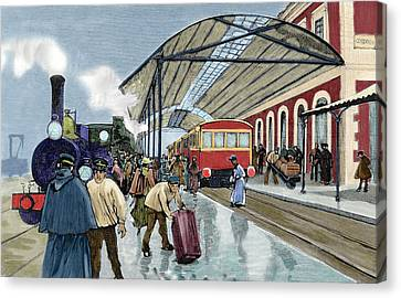 Cordoba Station Arrival Of A Passenger Canvas Print by Prisma Archivo