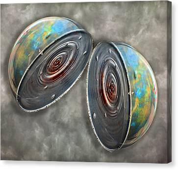 Sphere Canvas Print - Core by Betsy Knapp