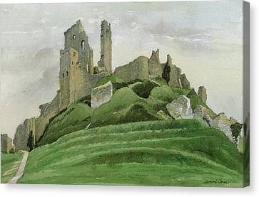 Ruin Canvas Print - Corfe Castle by Osmund Caine