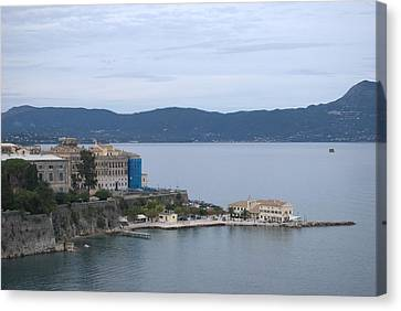 Corfu City 4 Canvas Print by George Katechis