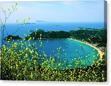 Corfu Canvas Print - Corfu, Greece Aerial View Of A Circular by Jolly Sienda