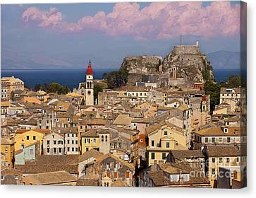 Corfu Town Canvas Print by Brian Jannsen