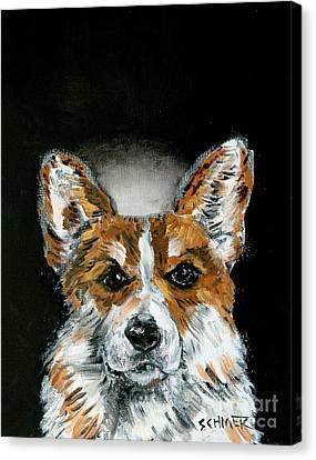 Corgi Angel Canvas Print by Jay  Schmetz