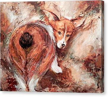 Corgi Butt Canvas Print