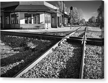 Corinth Station Canvas Print by Harry H Hicklin