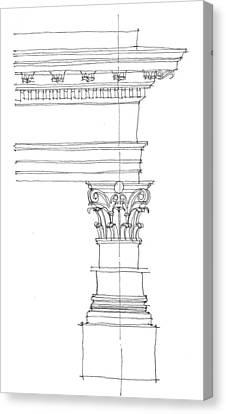 Corinthian Order Canvas Print by Calvin Durham