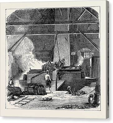 Cork Canvas Print - Cork Manufacture In Spain The Boiling Department by Spanish School