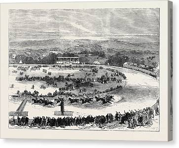 Cork Canvas Print - Cork Park Races The Grand National Steeplechase 1869 by English School