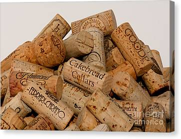 Canvas Print featuring the photograph Corks - 11 by Vinnie Oakes