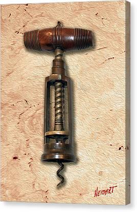 Vintage Corkscrew Painting 2 Canvas Print