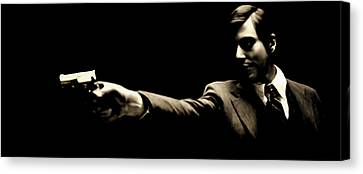 Michael Corleone Canvas Print - Corleone by Laurence Adamson