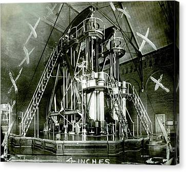 Corliss Exhibition Steam Engine Canvas Print by Miriam And Ira D. Wallach Division Of Art, Prints And Photographs/new York Public Library