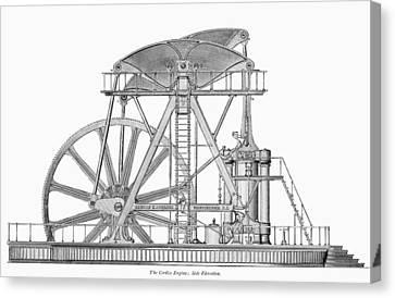 Corliss Steam Engine, 1876 Canvas Print by Granger