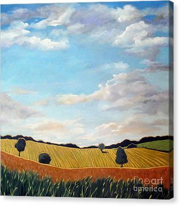 Corn And Wheat - Landscape Canvas Print