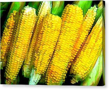 Corn Com Convention Canvas Print by Elaine Plesser