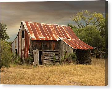 Corn Crib 2 Canvas Print by Robert Anschutz