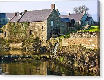 Corn Mill Annalong Northern Ireland Canvas Print by Jane McIlroy